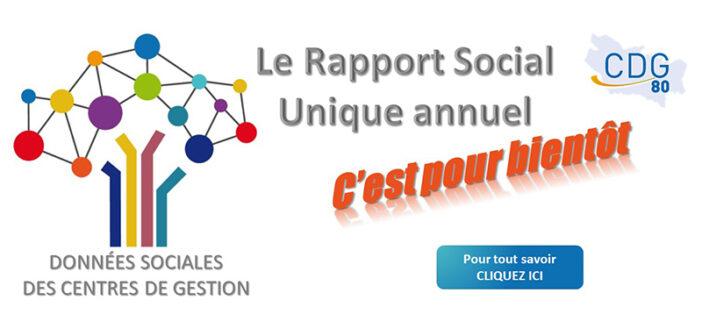 Un Rapport Social Unique (RSU) en remplacement du rapport sur l'état de la collectivité