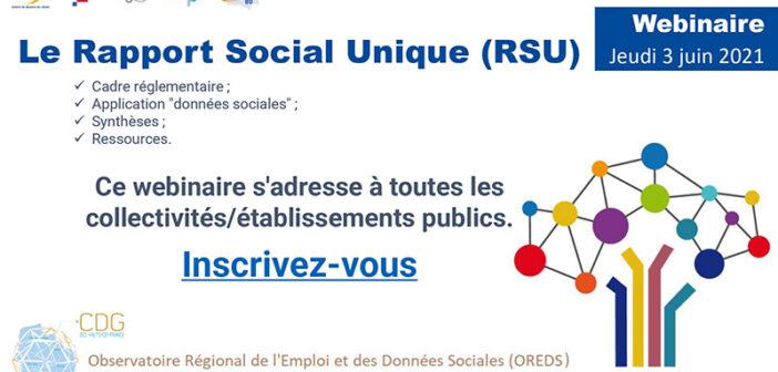 Webinaire : le Rapport Social Unique (RSU)